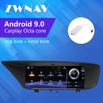 ZWNAV Car Multimedia DVD GPS Add CarPlay Audio Radio Stereo For Lexus GS GS200t GS250 GS350 GS400 2011~2020 Navigation NAVI image