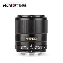 VILTROX AF 33 มม.F1.4 STM Auto Focus PRIME เลนส์ APS C สำหรับ Fuji X Mount Mirrorless กล้อง X T3 X H1 x20 X T30 X T20 X T100 X Pro2