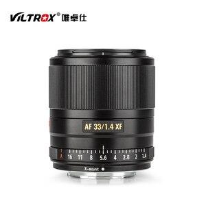 Image 2 - VILTROX AF 33mm AF33mm f/1.4XF אוטומטי פוקוס קבוע פוקוס עדשת F1.4 עדשה למצלמה Fujifilm X הר X T3 X H1 X20 X T30 X T20 X T10