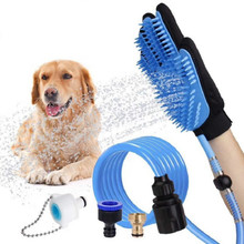 Pet Dusche Spritzen Kopf Handheld Katze Baden Dusche Werkzeug für Hund Sprayer Bade Handschuh 360 Waschen Haar Lange Schlauch Hund bad
