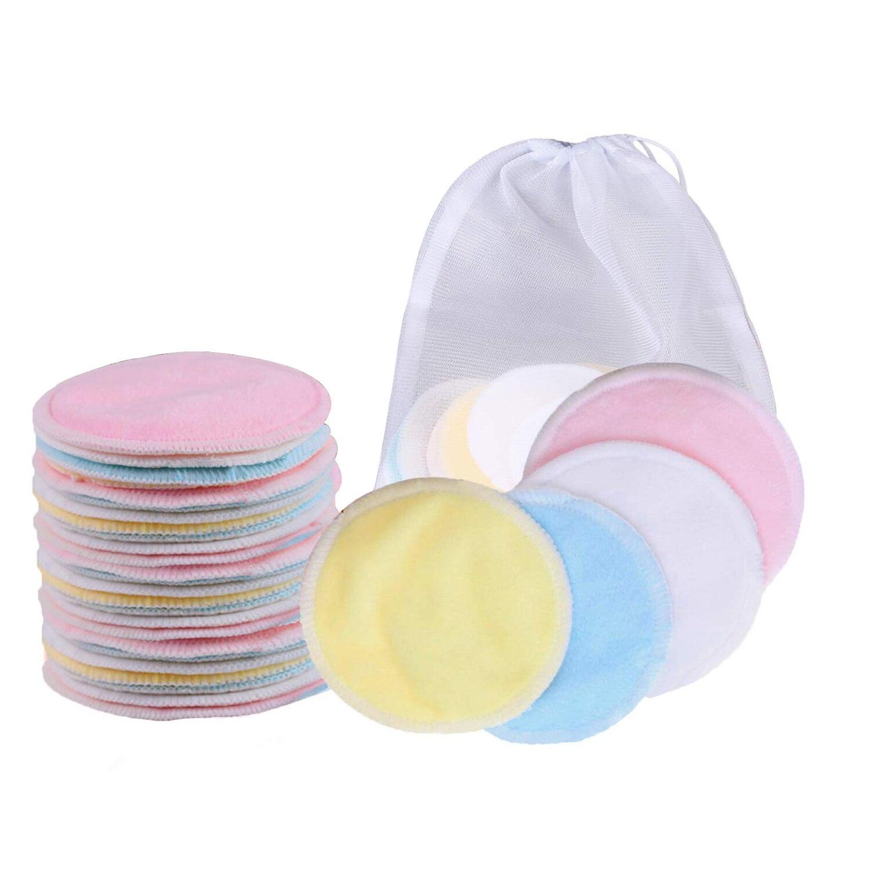 10/16/20Pcs Makeup Remover Pads Reusable Cotton Pads Make Up Facial Remover Bamboo Fiber Facial Skin Care Wipe Pads With Bag