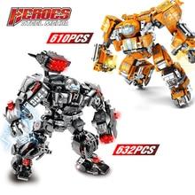 New Marvel Iron Man Hulkbuster War Machine Lepining Building Blocks Super Heroes Avengers Infinity War Children Kids Toys Gifts цена 2017