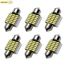 6 Stks/pak Festoen 31Mm Led Lamp C5W Auto Licht Canbus Geen Fout Auto Dome Stepwell Lamp SV8.5 DE3175 DE3022 DE3021 3021 6428 3022