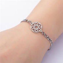 Stainless Steel Seed Of Life Jewelry Geometric Pendant Sacred Geometry Flower Charm Bracelets For Women Fashion Jewelry 2020 New(China)