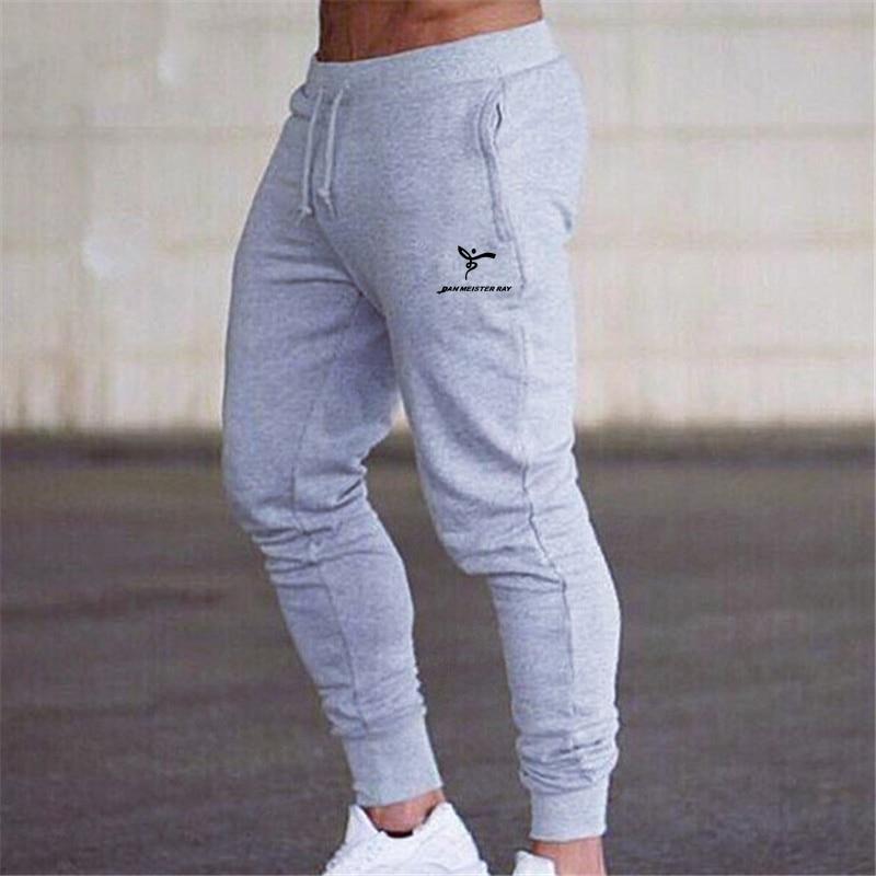 2020 Men's Sweatpants Cotton Soft Stretch Casual Sweat Pants Gym Jogging Men Running Sports Pants Men Solid High Street Pants