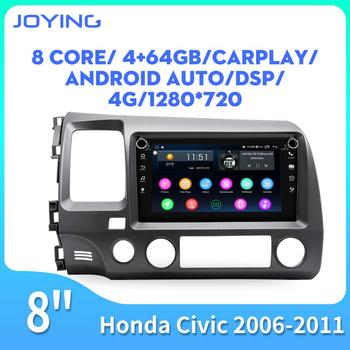 Android car radio one din 8 IPS screen head unit autoradio for Honda Civic 2006-201 video stereo player supprt reverse camera image