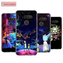 Rick and morty Fashion for LG W30 W10 V50S V50 V40 V30 K50S K40S K30 K20 Q60 Q8 Q7 Q6 G8 G7 G6 ThinQ Phone Case smart mirror flip phone case for lg g8 thinq case clear view cover for lg v30 plus v40 thinq covers h930