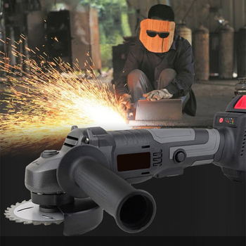 1200W Cordless Angle Grinder Rechargeable Grinding Machine 100mm Electric Grinder Cutter Polishing Cutting Brushless Power Tool недорого