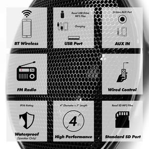 Image 2 - Aileap 1000W de Audio para motocicleta sistema de altavoces amplificador de 4 canales, soporte Bluetooth, AUX, Radio FM, tarjeta SD, USB Stick (cromo)