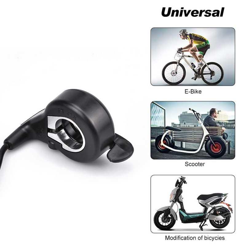 Accélérateur électrique de pouce de bicyclette d'ebike, accélérateur d'accélérateur de doigt de FT-21X, contrôle de vitesse pour l'accessoire de Scooter de rasoir de poche d'ebike