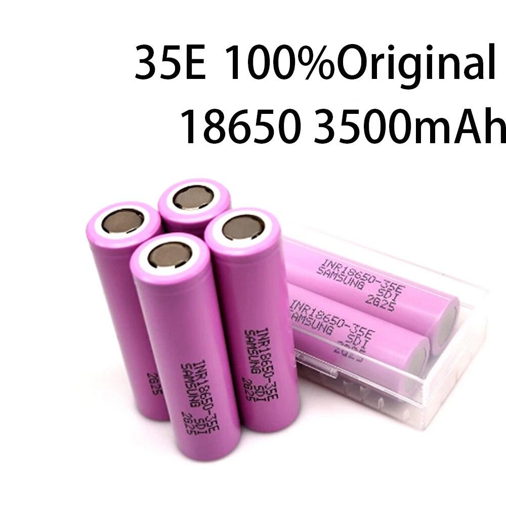 2021100% original para 18650 3500mah 20a descarga inr18650 35e 3500mah 18650 li-ion bateria 3.7v recarregável