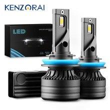 2pcs H4 LED H7 Mini Car Headlight Bulbs H1 H11 H8 H9 HB3 HB4 9005 9006 Auto Led Lamp CANBUS 100W 25000LM 6000K 12V CSP Fog Light