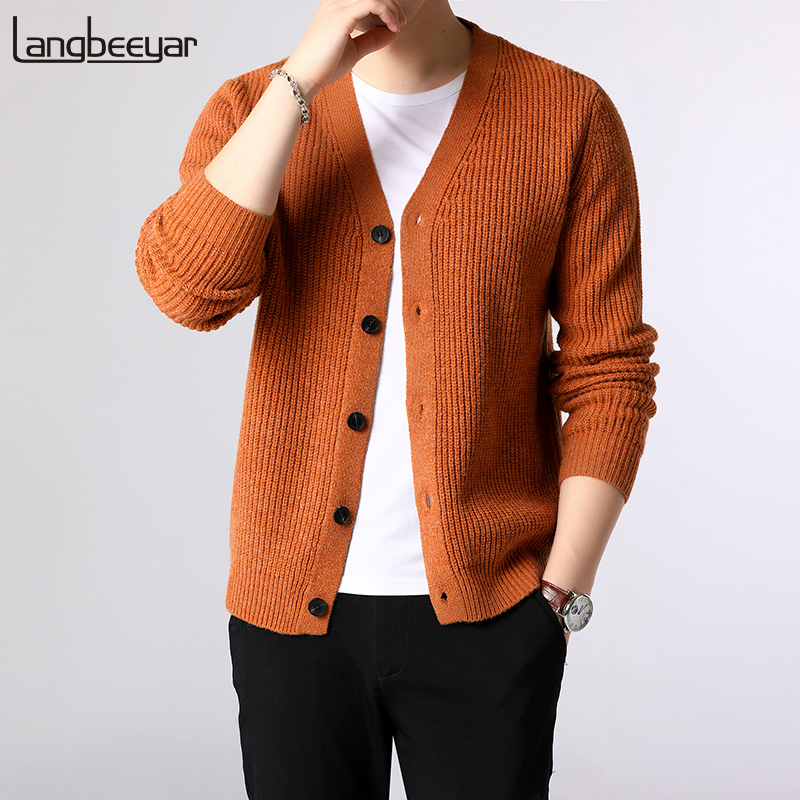 2019 New Fashion Brand Sweater Men Cardigan Thick Slim Fit Jumpers Knitwear Warm Winter Korean Style Casual Clothing Male
