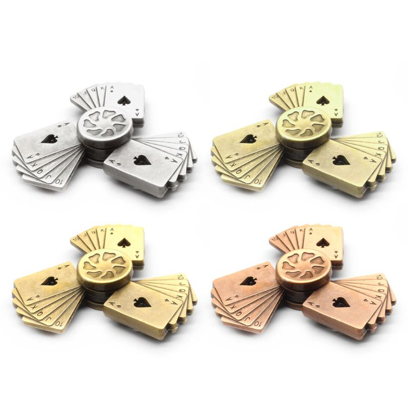 Poker Style Hand Spinner Zinc Alloy Bearing High Speed Spinning Game Relief Toy P31B