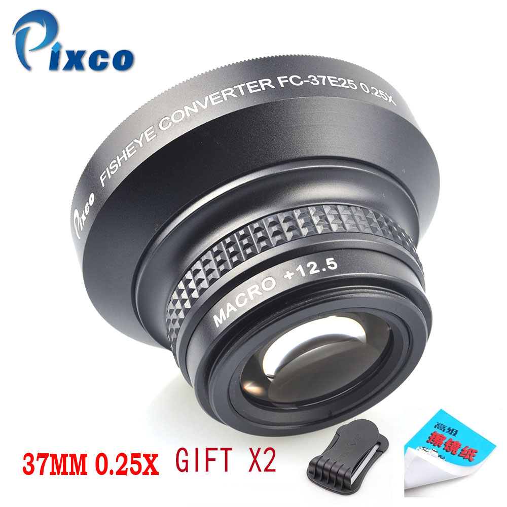 37MM 0.25X Super Macro Wide Angle Fisheye Lens for Canon NIKON PENTAX DSLR SLR Camera 37MM thread lens image