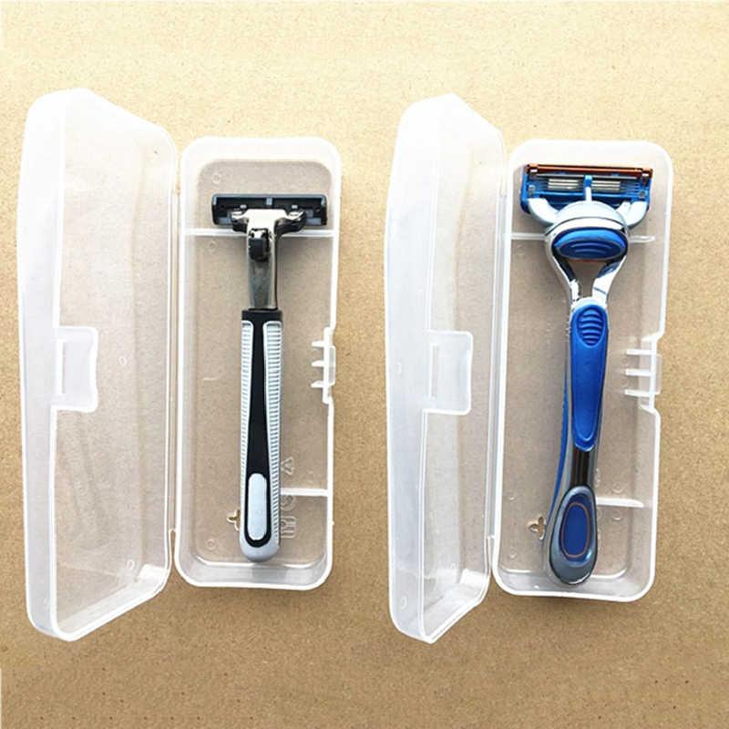Männer Universal Lagerung Rasierer Box Griff Box Voll Transparent Kunststoff Fall Rasiermesser Boxs Umweltfreundliche PP Rasieren Box hohe Qualität