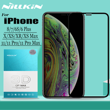 Nillkin עבור iPhone 11 פרו מקסימום X Xr Xs מקס זכוכית מסך מגן 3D מלא כיסוי בטיחות מזג זכוכית עבור iPhone 8 7 6S 6 בתוספת