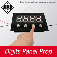 999 PROPSdigital board Real life escape room game prop press button to enter correct password on panel mysterious adventure real life escape room props puzzles flashlight laser shine to unlock with audio room escape games control 12v em lock
