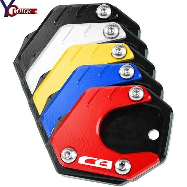 HONDA için CB125R CB300R 2018 + CB400X CB500X CB500F 2013-2020 2019 2014 2015 2016 CB650R CNC motosiklet yan standı büyütmek plaka