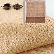 Натуральный коврик из натуральной рафии, плетеная веревка ручной работы, материал из ротанга, тесьма для домашней мебели, стула, стола, пото...