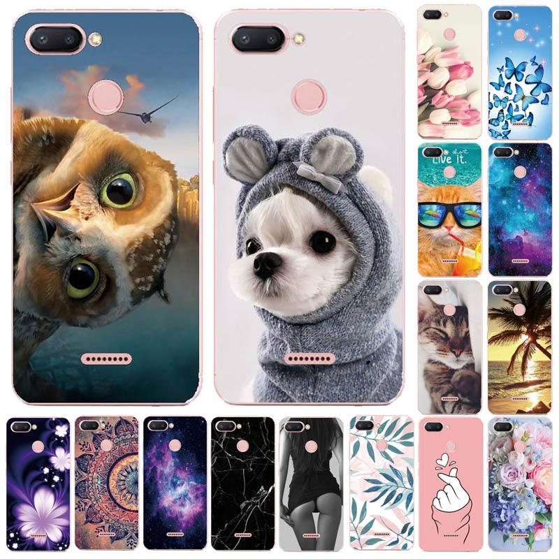 Silicone Cover For Xiaomi Redmi 6 Case Full Protection Soft Tpu Back Cover Phone Cases For Xiaomi Redmi 6A 6 Pro Bumper Coque