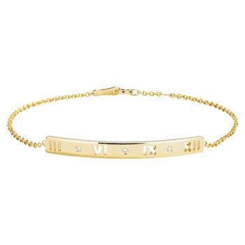 Elegant Roman Numeral Diamond 18K Solid Real Genuine Gold AU750 Wrap Bracelets Bangles for Women Fancy Anniversary Jewelry Gift 1