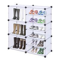 9 Grid Storage Shoe Rack Hallway Cabinet Organizer Holder 3/6 Layers Assemble Shoes Shelf DIY Home Furniture For Bookcase Kid's