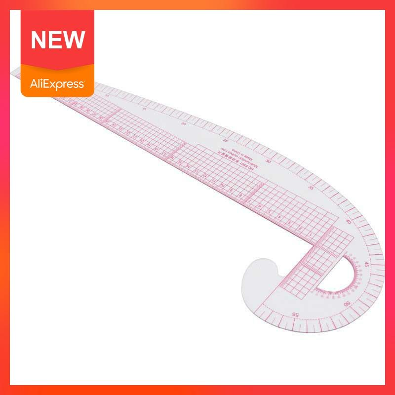 New Multi-function Plastic French Curve Sewing Ruler Measure 360 Tailor Ruler Degree Tools Bend Ruler Making Design Clothin C2W1
