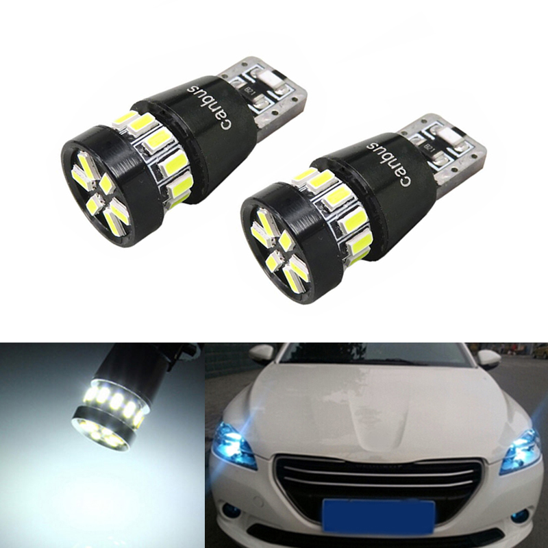 2X Canbus Car Wedge Light W5W T10 <font><b>LED</b></font> 3014 SMD Auto Lamp Bulb For <font><b>Peugeot</b></font> 307 206 301 207 2008 508 301 3008 406 507 <font><b>208</b></font> image