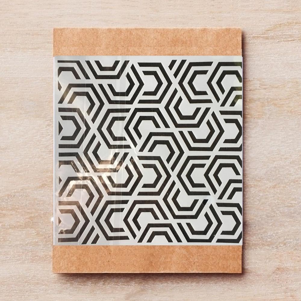 15*15cm Hexagon DIY Layering Stencils Painting Scrapbook Coloring Embossing Album Decorative Template