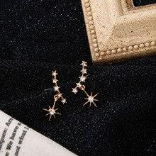Korean tassel Earrings little fairy Sun Star girl heart exquisite elegant accessories Stud