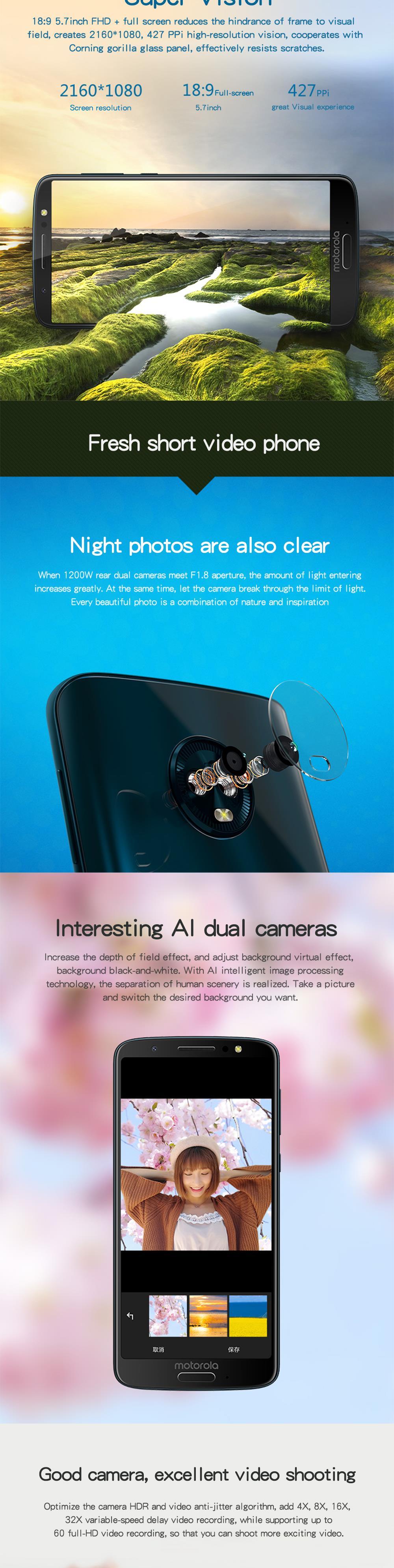 Teléfono Inteligente Moto G6 2