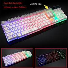 Professional Keyboard Computer-Gamer Illuminated Crack Led Backlit 104-Keys Wired -30