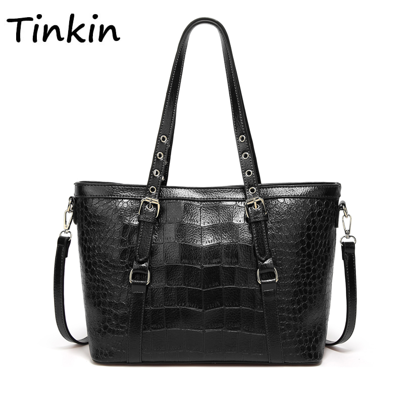 Crocodile Handbag Totes Shoulder-Bag Female Women Soft Daily Retro Large-Capacity New-Arrival