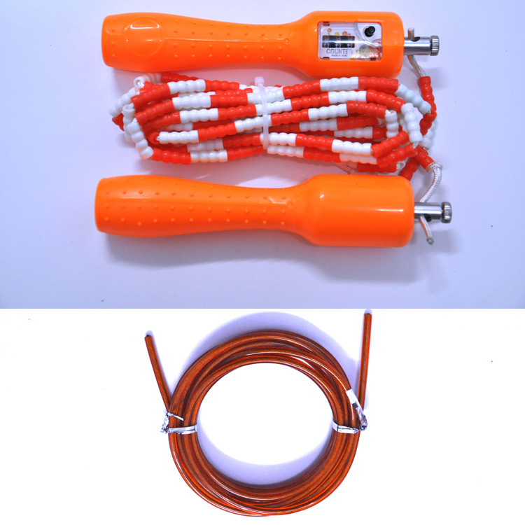 Heineken Jump Rope Count Bearing Bamboo Joint Genuine Product Beads Students The Academic Test For The Junior High School Studen