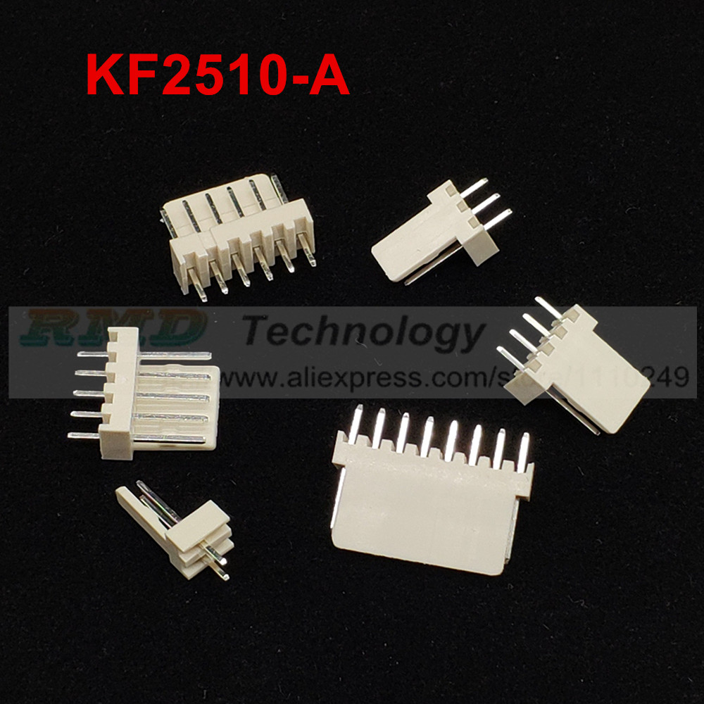 100 x KF2510 2.54mm 3-Pin Male Straight PCB Connector Header wire-board socket