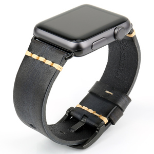 Image 5 - Handmade Leather Watch Strap Replacement For Apple Watch Band 44mm 40mm 42mm 38mm Series SE 6 5 4 3 2 iWatch Watchbands