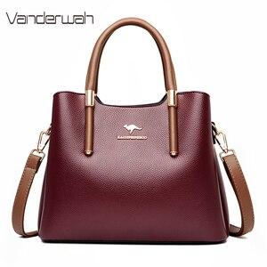 Leather Casual Crossbody Bags for Women 2020 Ladies Luxury Designer Tote Handbag Top-Handle High Quality Shoulder Bag Sac A Main