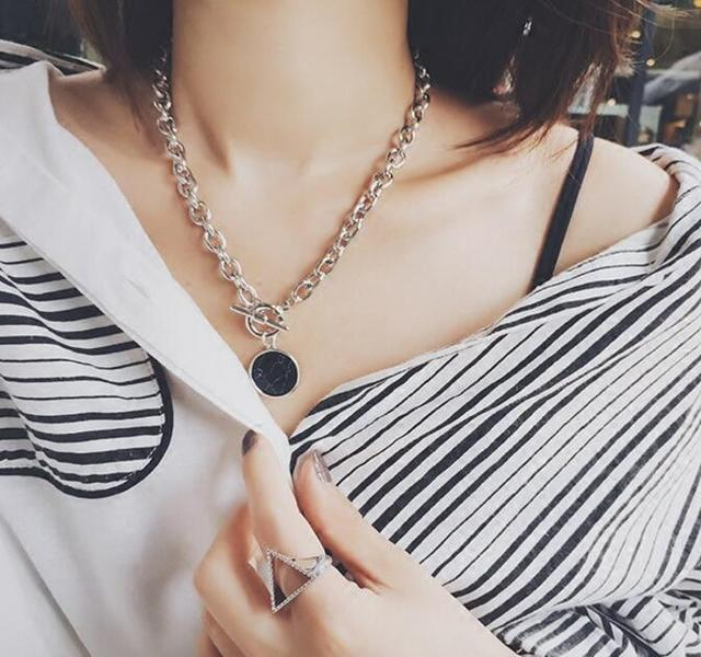 marble and chain necklace or bracelet 5