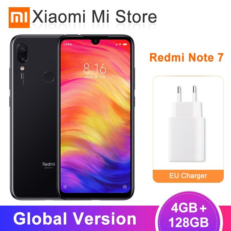 Global Versão Xiaomi Redmi Nota 7 4GB 128GB Smartphone Snapdragon 660 Núcleo octa 48MP Dual Camera 6.3