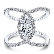 Ustar большие кольца для глаз женщин aaa кубический цирконий