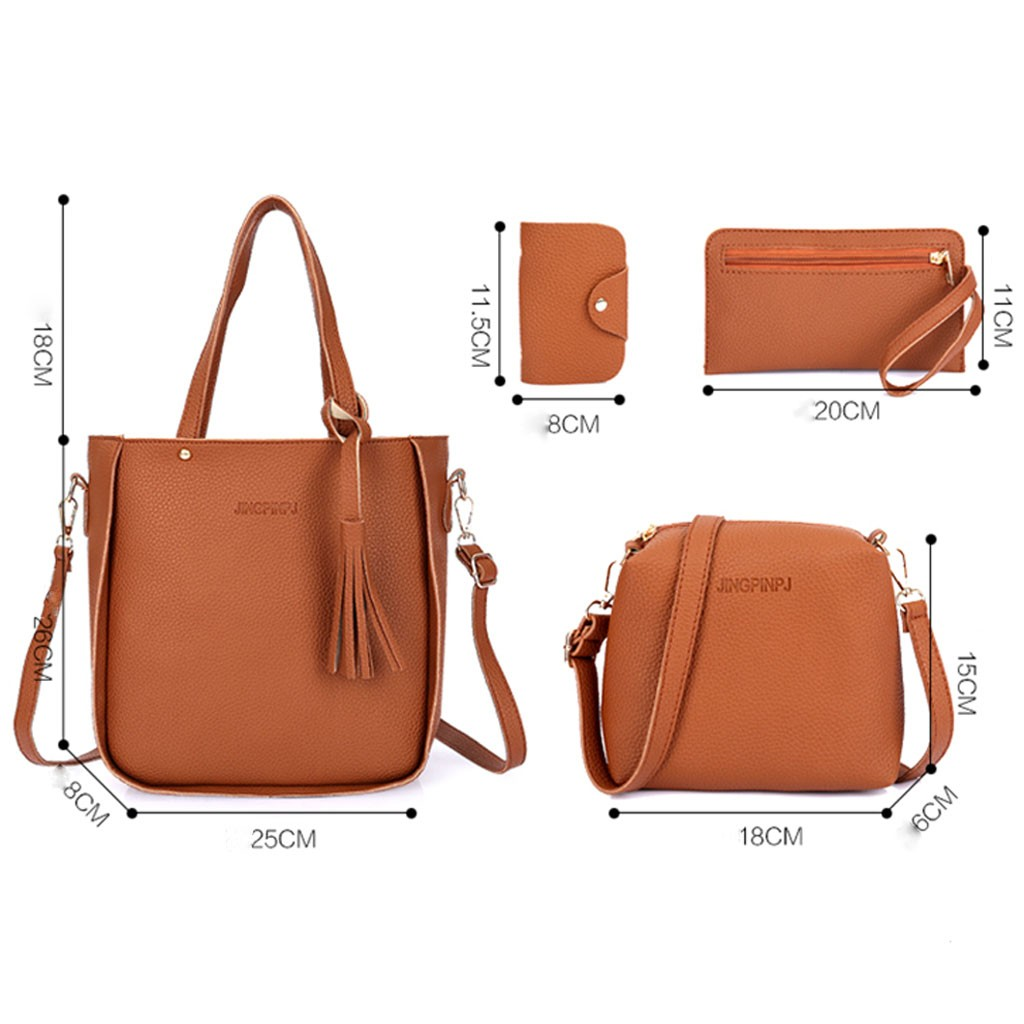 4pcs Woman Bag Set Fashion Female Purse And Handbag Four-piece Shoulder Tote Messenger Crossbody Wallet Сумка Женская