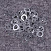 DWCX 50pcs Silver Car Engine Oil Crush Washers Drain Plug O Rings Gaskets Seal 12mm ID. 20mm OD.|Oil Pan Gaskets|   -