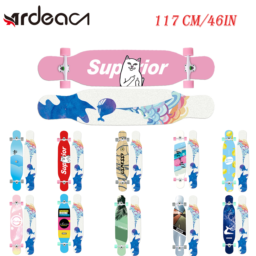 MS414 Dream Ⅱ 117cm/46in Multicolour Printing Griptape Dancing Street Longboard Abec-9 High Speed Chrome Steel Bearing