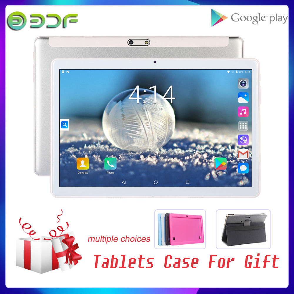 10 Inch Android 7.0 Free Gift Tablet Case Cover 3G Phone Call Dual SIM Card GPS Tablet PC Tab WiFi IPS 10.1 Inch Kids Phablet