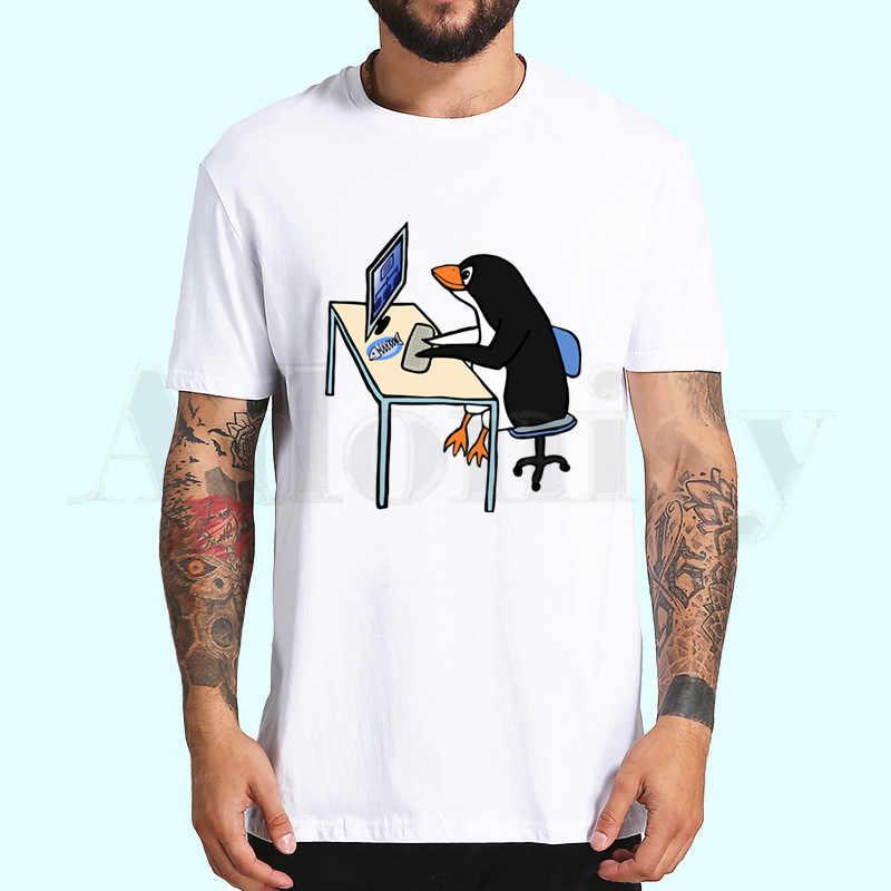 Le pingouin LINUX dans un ordinateur t-shirts mode hommes et haut pour femme T-shirt à manches courtes unisexe T-shirt