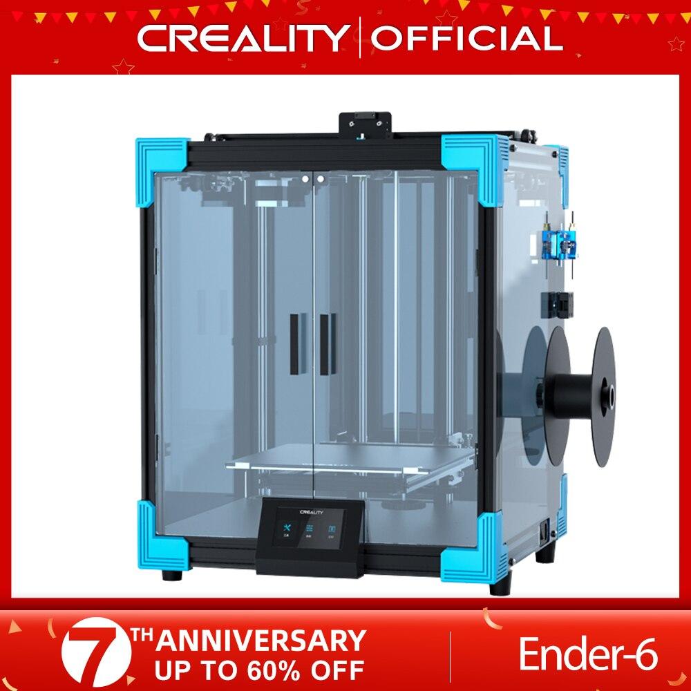 3D-принтер CREALITY New Core-XY Ender-6 Large, 250*250*400 мм, бесшумная материнская плата, карборунд, стеклянная печать, возобновление печати