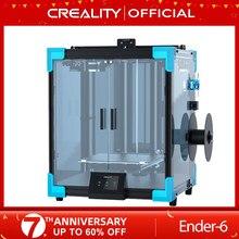 CREALITY-impresora 3D de gran tamaño Core-XY, Ender-6, placa base silenciosa de 250x250x400MM, hoja de impresión de vidrio de carborindón