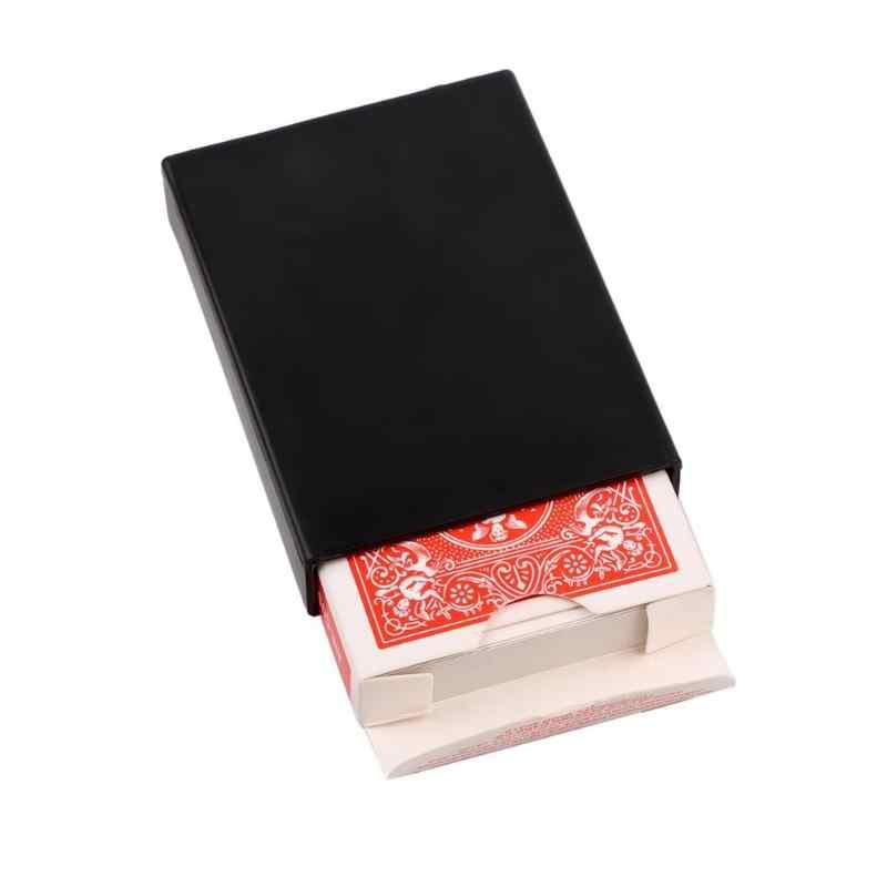 متعة لعبة البوكر التلاشي حالة مذهلة بطاقات للعب ماجيك بوكر يختفي صندوق