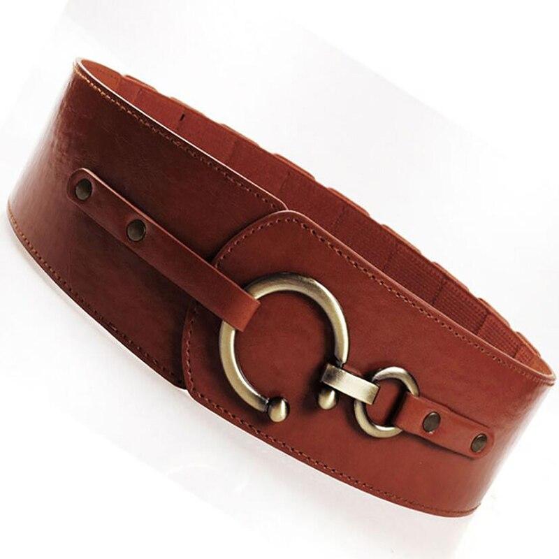 PU Leather Belts For Women Fashion Decorative Elastic Girdle Hooks Women Belt Waistband Dress Decoration Accessories